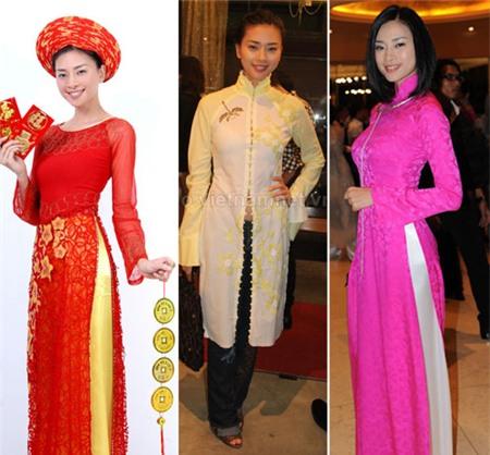 Ngắm các biểu tượng thời trang nữ tính áo dài - 12