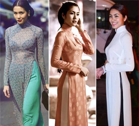 Ngắm các biểu tượng thời trang nữ tính áo dài - 5