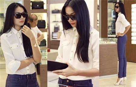 Làm mới 3 chiếc áo trắng thông dụng sáng tạo như sao Việt 4