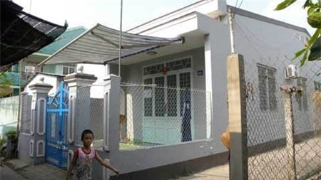 Ngôi nhà nơi phát hiện vụ viêc tại xã Sơn Đông, TP. Bến Tre