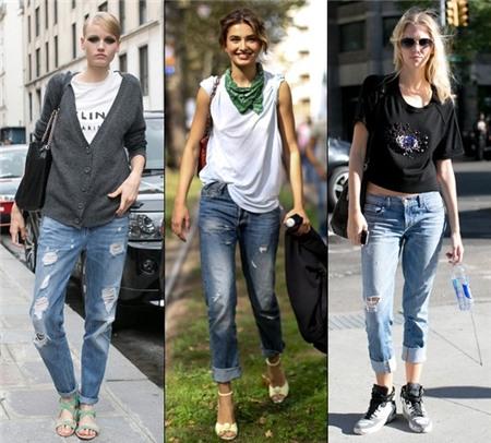 5 cách mặc denim rách đúng kiểu Thu/Đông 2013 14