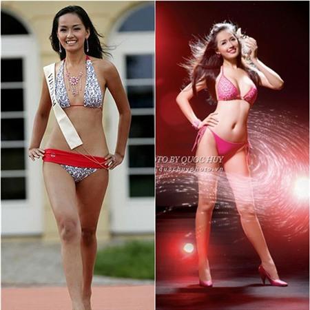 Vóc dáng của Mai Phương Thúy từ thời thi Hoa hậu Việt Nam 2006 vẫn còn lép kẹp. Thế nhưng, hiện tại cô đã được tôn vinh là một trong những người đẹp sở hữu đường cong nóng bỏng nhất.