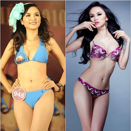 Thời thi Hoa hậu thế giới người Việt 2010, Lưu Diễm Hương sở hữu vóc dáng khá khiêm tốn. Nhưng đến nay số đo 3 vòng của cô đã cải thiện đáng kể.