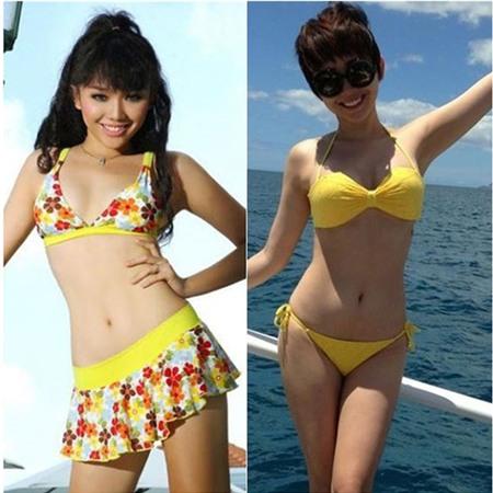 Tóc Tiên ngày nay thường gây sốt bởi loạt ảnh áo tắm nóng bỏng - quả thực khác xa một cô nàng Tóc Tiên tuổi ô mai.
