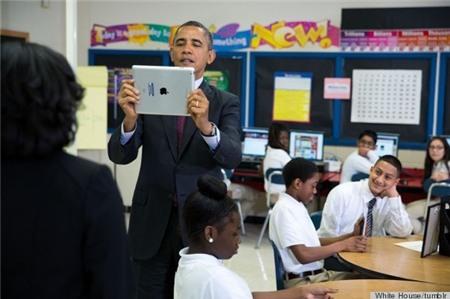 10 khoảnh khắc hồn nhiên của Tổng thống Obama