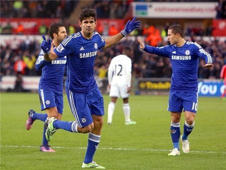 Swansea 0-5 Chelsea: Bảo vệ ngôi đầu bằng trận mưa bàn thắng