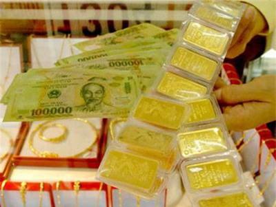 Vàng xuống dưới mốc giá 35,40 triệu đồng/lượng