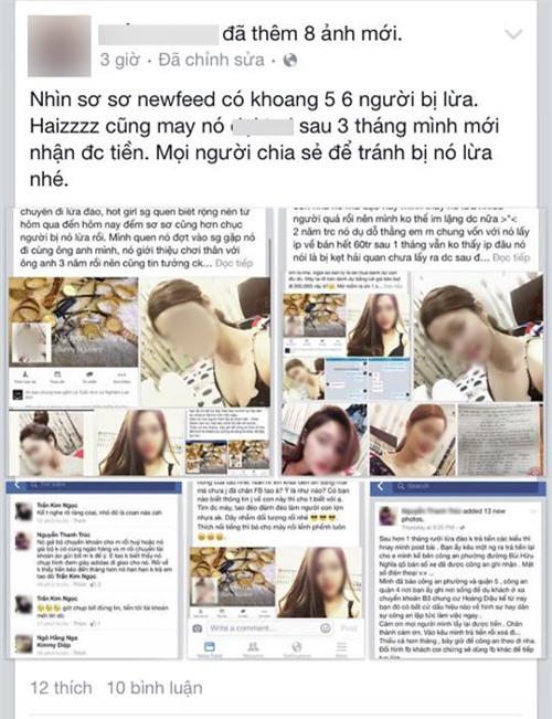 Hàng loạt nạn nhân tố cáo hot girl bán hàng online lừa tiền - Ảnh 1