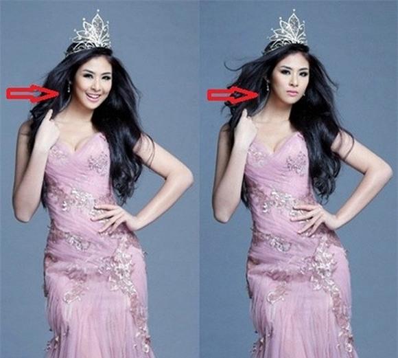 Hoa hậu, Á hậu Việt lỗi photoshop 5