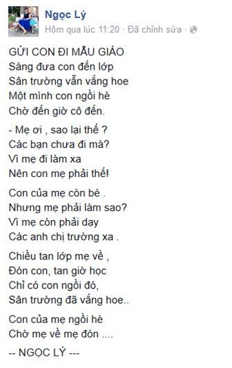 Bài thơ cô giáo nghẹn ngào kể chuyện đưa đón con đi học - 1