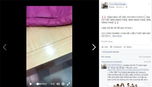 Một chủ shop ở Hà Nội bị tố bán hàng nhái quần áo Uniqlo với giá đắt đỏ - Ảnh 1.