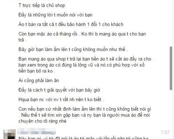 Một chủ shop ở Hà Nội bị tố bán hàng nhái quần áo Uniqlo với giá đắt đỏ - Ảnh 4.