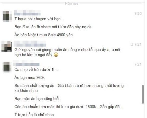 Một chủ shop ở Hà Nội bị tố bán hàng nhái quần áo Uniqlo với giá đắt đỏ - Ảnh 8.