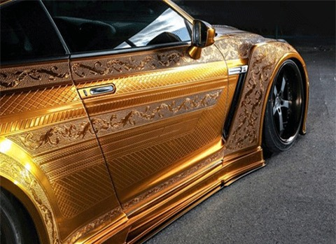 siêu xe, xe dát vàng, xe độ dát vàng