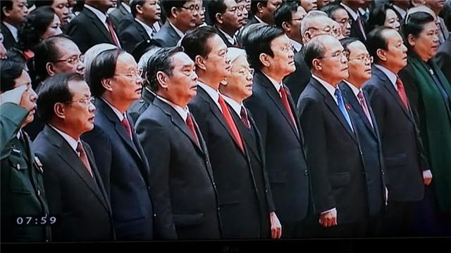 đại hội Đảng 12, Tổng bí thư Nguyễn Phú Trọng, Chủ tịch nước Trương Tấn Sang, Thường trực Ban Bí thư Lê Hồng Anh