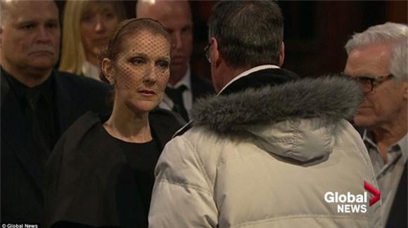 đám tang chồng Celine Dion 10