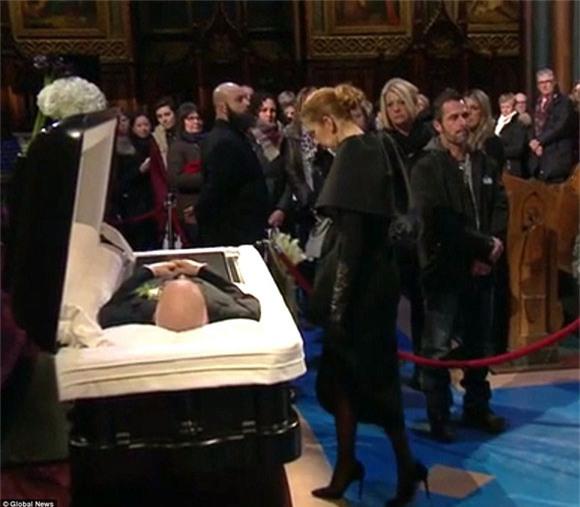đám tang chồng Celine Dion 1