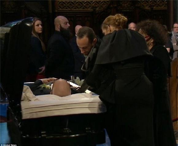 đám tang chồng Celine Dion 2
