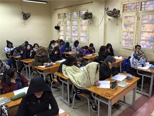 học sinh nghỉ rét, nghỉ học, thời tiết Hà Nội
