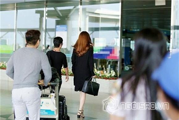 Hồ Ngọc Hà ở sân bay 7