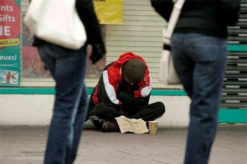ăn mày, thu nhập, Anh, lừa đảo, vô gia cư