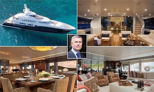 Tỉ phú Kirill Pisarev đã bán chiếc siêu du thuyền dài 47 m với lý do nó… không đủ lớn cho gia đình ông gồm 6 thành viên Ảnh: DAILY MAIL