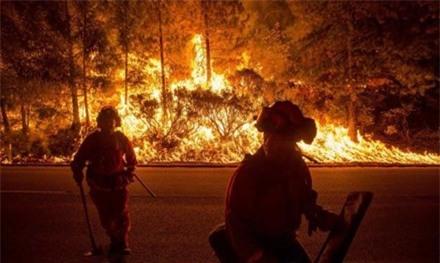 Hình ảnh trong đám cháy King Fire.
