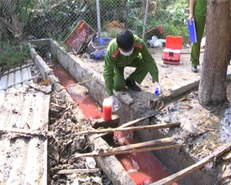 Nước thải của cơ sở giết mổ này xả thải thẳng ra môi trường