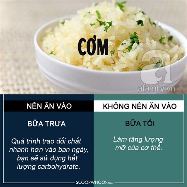 thời điểm ăn thực phẩm bổ dưỡng