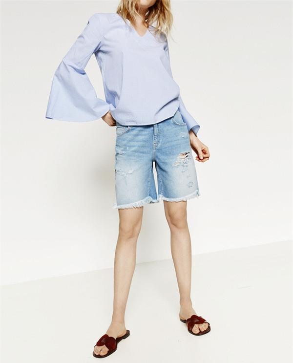 short jeans street style