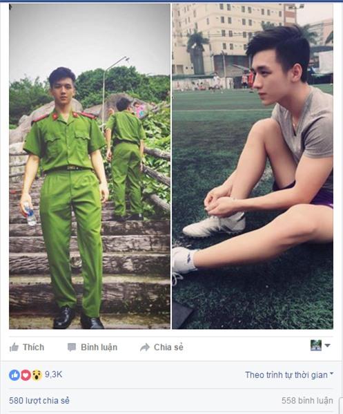 Anh công an Việt có vẻ đẹp tiểu mỹ thụ được phái nữ truy lùng trên mạng xã hội - Ảnh 1.