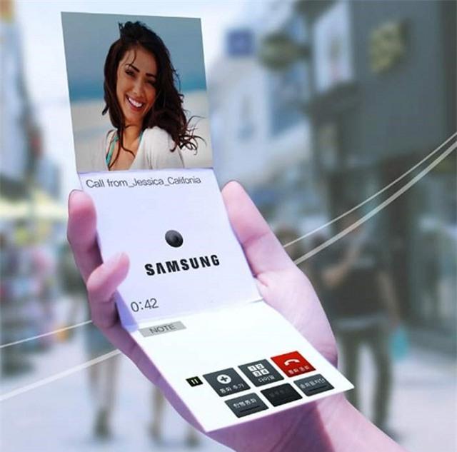 Samsung sắp ra điện thoại có màn hình uốn dẻo như giấy - Ảnh 1.