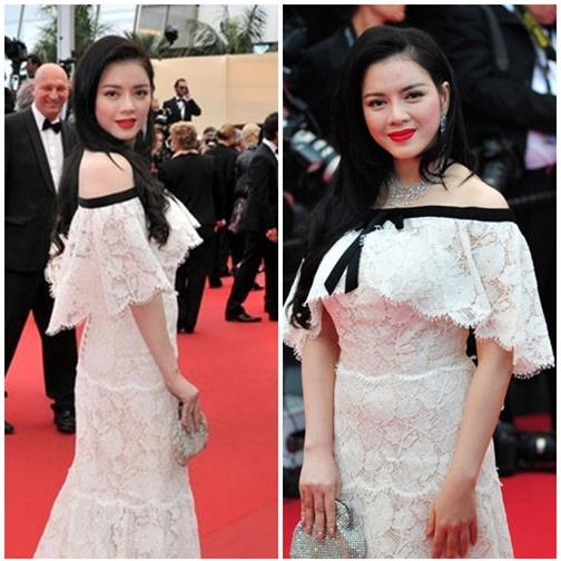 Boc mac vay hang hieu cua Ly Nha Ky tai Cannes 2013 hinh anh 3