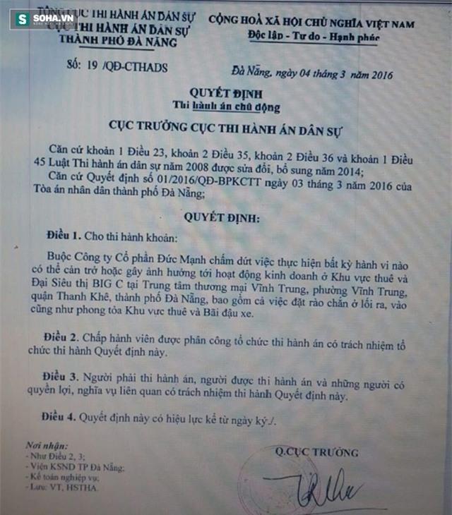 Náo loạn tại Big C Đà Nẵng: Chủ tòa nhà chống lệnh của tòa án? - Ảnh 4.