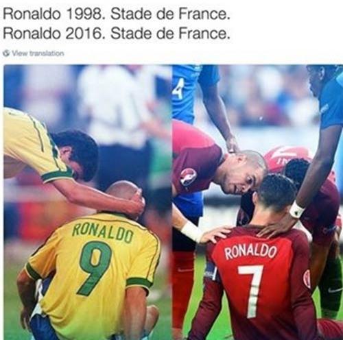 Ảnh chế Euro: Messi khóc nức nở nhìn Ronaldo đoạt cúp - 3