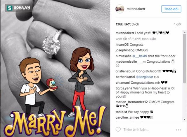 Thiên thần Victorias Secret Miranda Kerr đính hôn với tỉ phú  - Ảnh 1.