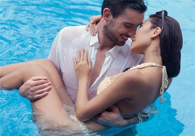 Hà Anh diện bikini chụp ảnh cưới cùng chồng Tây - Ảnh 9.
