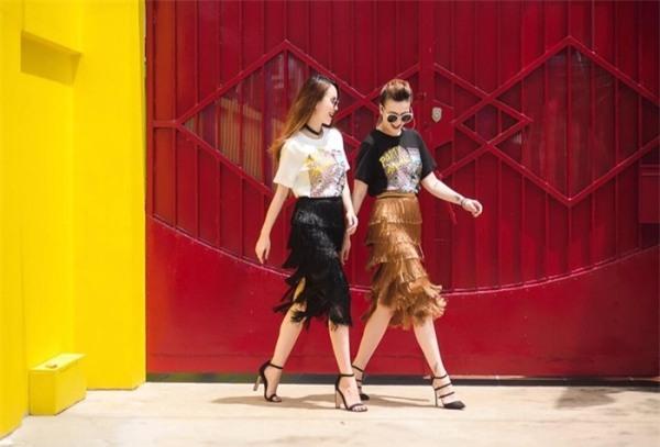 Angela Phương Trinh, Hạ Vy siêu trang nhã với street style đơn sắc