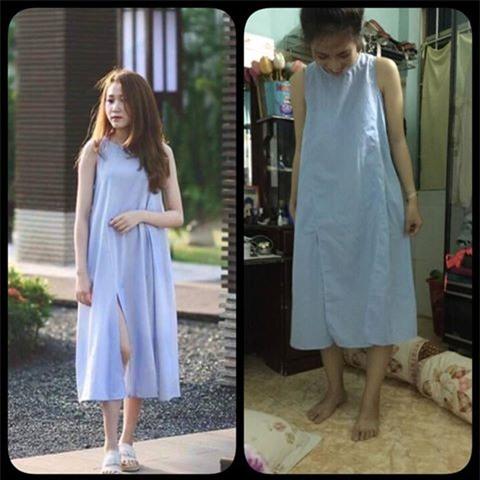 Lại thêm cô nàng mua váy online, nhận về hàng như váy của sản phụ đi đẻ - Ảnh 1.
