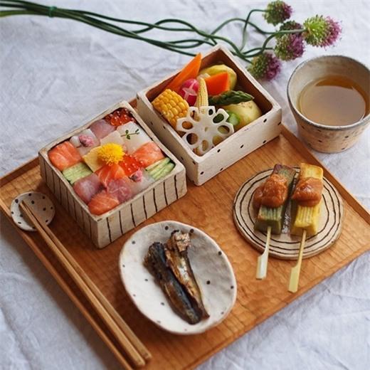 Trào lưu Mosaic sushi đẹp như tranh vẽ