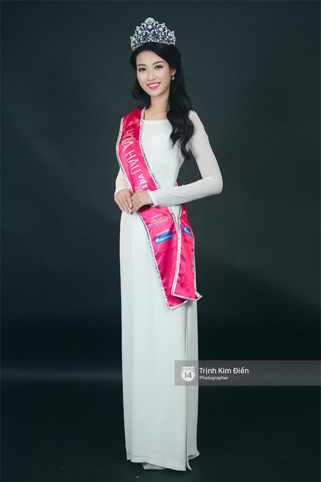 Ngẩn ngơ ngắm Hoa hậu Đỗ Mỹ Linh và 2 Á hậu Thanh Tú - Thùy Dung trong tà Áo dài trắng! - Ảnh 4.