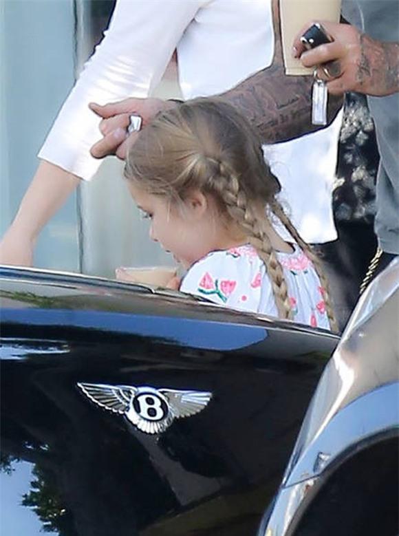 bé Harper đáng yêu với tóc bím 4
