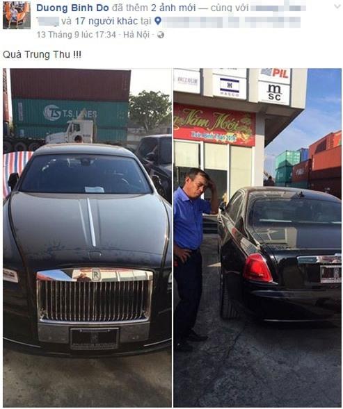 Thiếu gia Hà thành đăng ảnh chiếc xe sang mới tậu lên Facebook.