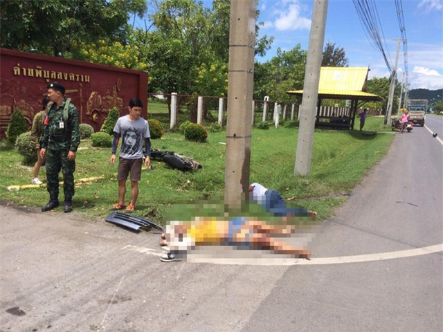 Thái Lan: Rợn người trước hình ảnh bóng đen xuất hiện sau vụ tai nạn giao thông thảm khốc - Ảnh 2.