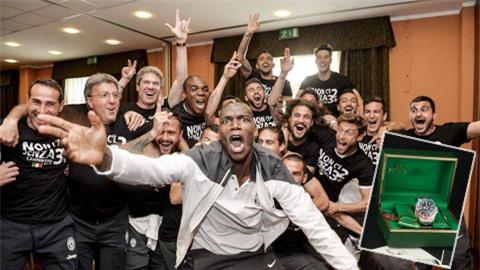 Pogba hào phóng tặng đồng hồ cho cả đội Juventus