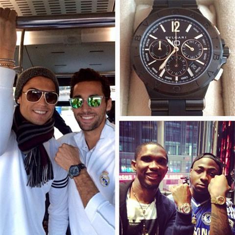 Samuel Eto'o và CR7 từng tặng đồng hồ đắt tiền cho đồng đội