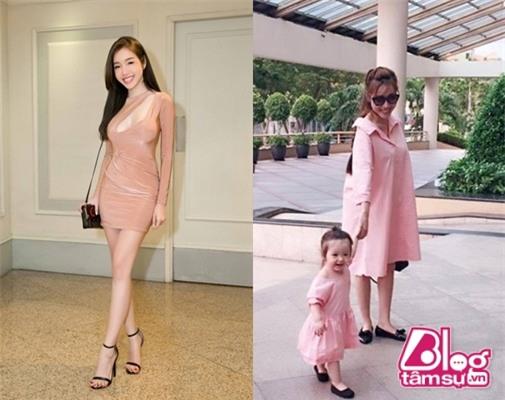 Giày bệt cùng chiếc váy bầu rộng thùng thình đã khiến cho chân Elly Trần ngắn hẳn đi