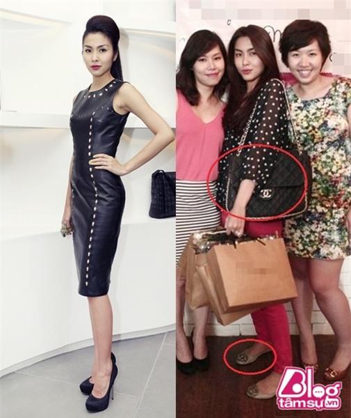 Sự khác biệt giữa rõ rệt giữa lúc đi giày cao và giày bệt của Tăng Thanh Hà
