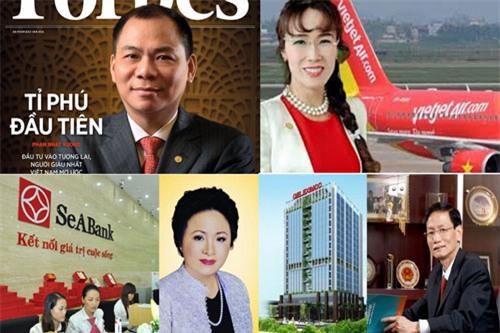 Những doanh nhân giàu có tại Việt Nam.