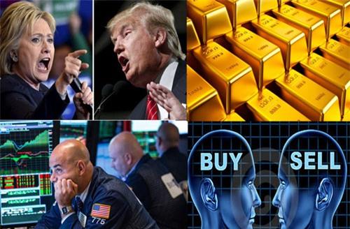 Brexit, bầu cử Mỹ, tài chính thế giới, dự báo giá vàng, cú sốc giá vàng, cú sốc USD, thị trường tiền tệ, lãi suất USD, chính sách tiền tệ, chính sách tài khóa, khủng hoảng kinh tế, khủng hoảng tài chính, Donald Trump, Hillary Clinton